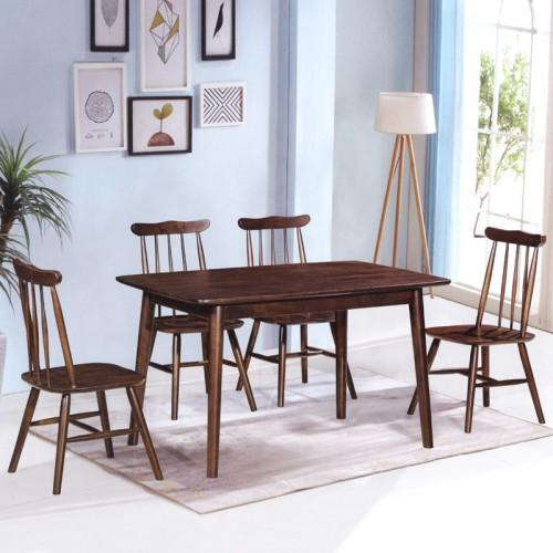 北欧胡桃木色餐桌椅 现代简约日式家具 B-17#