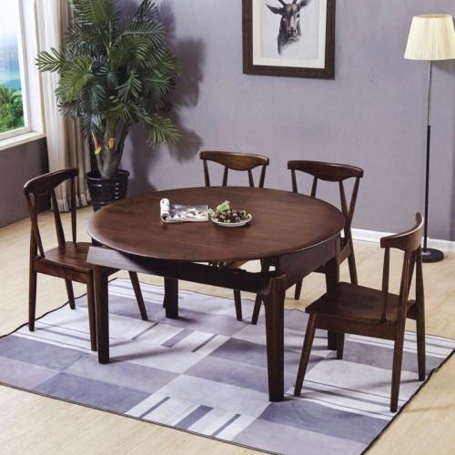 大户型餐厅圆桌 香河实木餐桌椅家具 跳台#