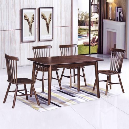 小美式风格餐厅家具 全实木餐桌椅 B-17#
