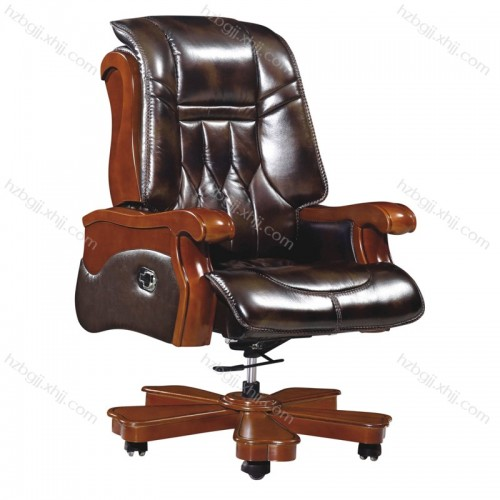 公司总裁真皮大班椅 升降旋转办公椅39#