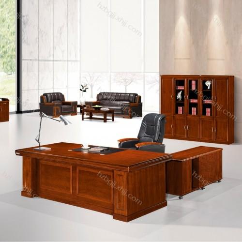 油漆胡桃木贴老板桌大班台供应商  MT2411#