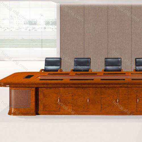 定做实木会议桌厂家 商务花梨木会议桌价格HK6002#