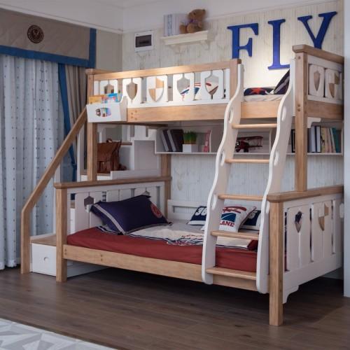 儿童带步梯双层床男女童带步梯上下铺_TCZ05双层床