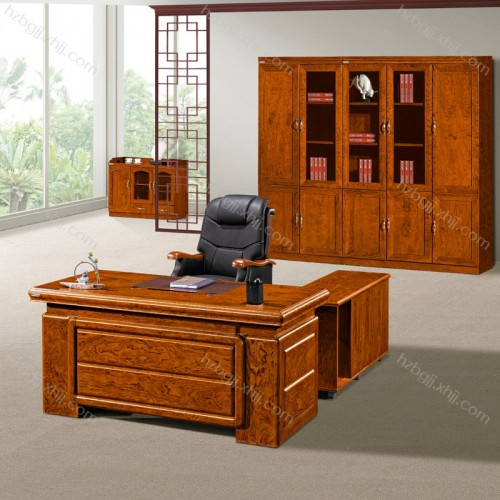 油漆班台 花梨木老板桌经理办公桌可定制HT1823#