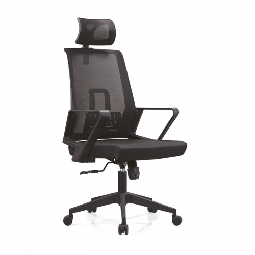 工厂直供电脑椅网布办公椅带头枕A12