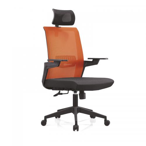 经理室带头枕高靠背办公网布电脑椅A13