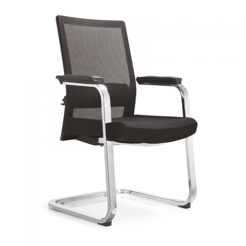 职员办公网布椅弓形会议椅批发C08