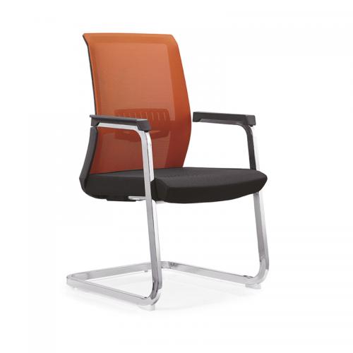 厂家直销网布会议椅简约弓形办公椅C13