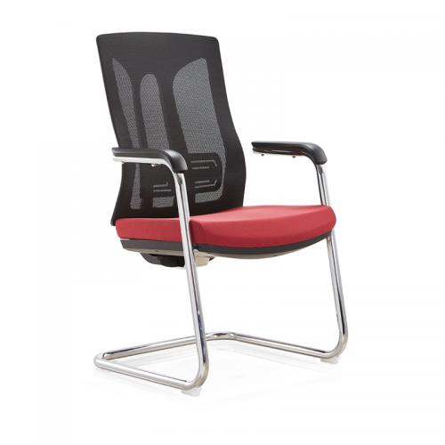 透气办公椅生产厂家 网布弓形职员椅C30-1