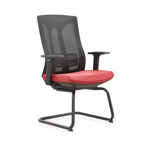 舒适职员办公椅 网布弓形培训椅D30-1