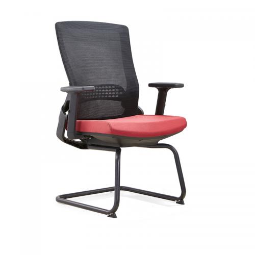 弓形电脑椅厂家批发 网布培训办公椅D35-2