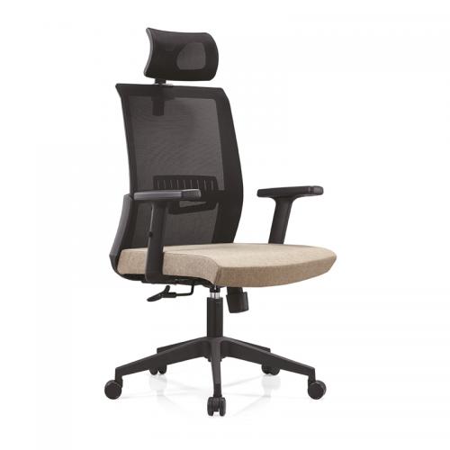网布职员工办公椅子 经理椅带头枕A16