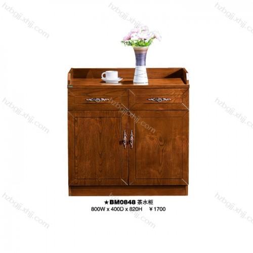 白蜡木落地柜办公室矮柜茶水柜 BM0848#