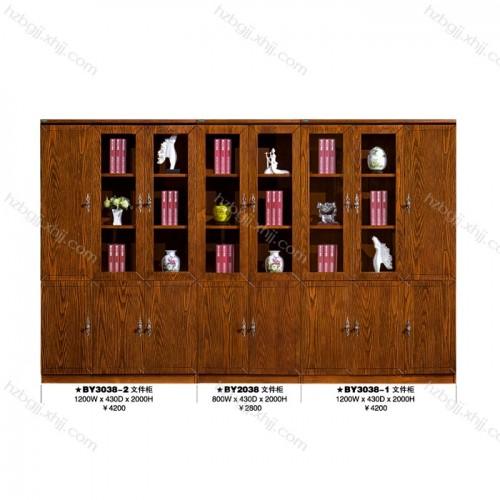 办公文件柜白蜡木油漆书柜供应商 BY3038-2#