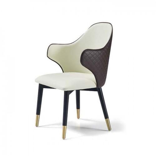 现代真皮休闲椅 单人靠背椅 Q9050#