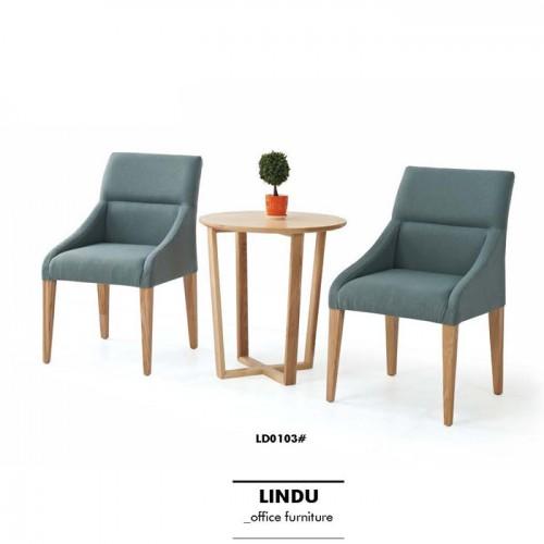 现代简约休闲椅子 布艺坐垫靠背椅 LD0103#