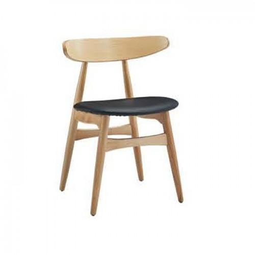 简约日式椅子 休闲实木椅 Q9055#