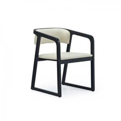 简约时尚椅子 休闲黑白拼色椅子 Q1004-1#