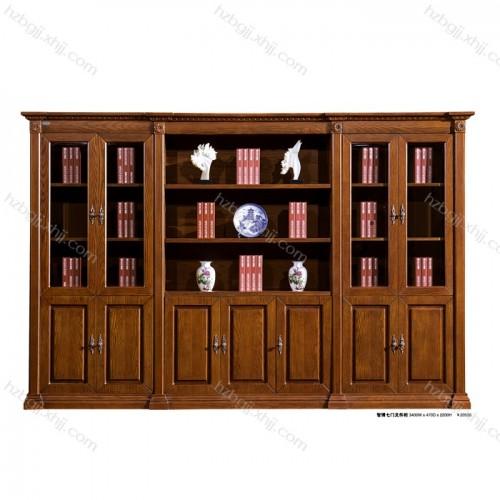 智博七门文件柜书柜背景柜