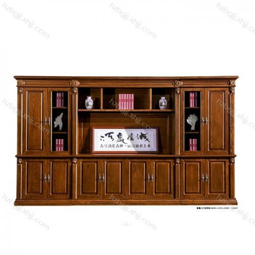 智奥八门文件柜实木油漆书柜资料柜