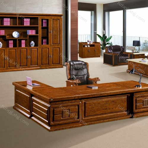 白蜡木总裁办公桌品牌 大班台老板桌批发 BT3208#