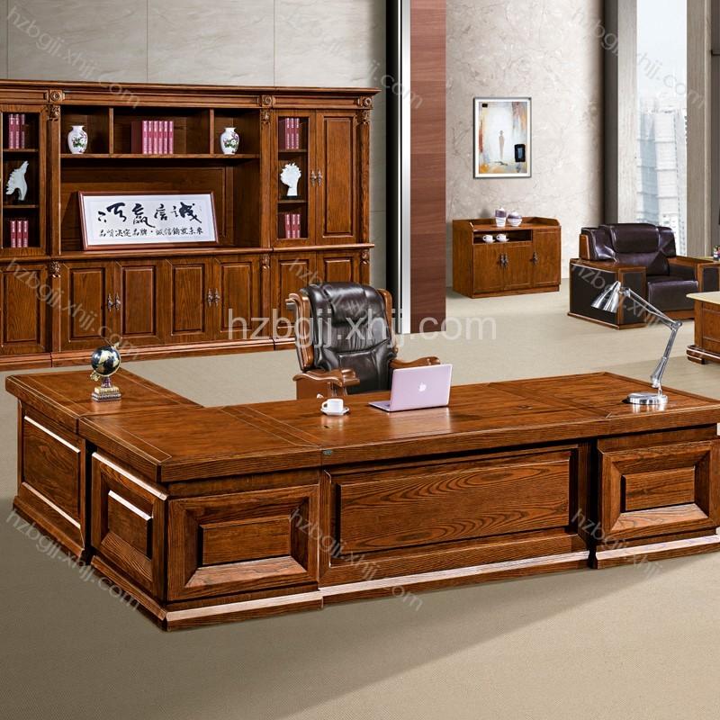 办公家具实木班台白蜡木总裁台批发价格 BT3213#