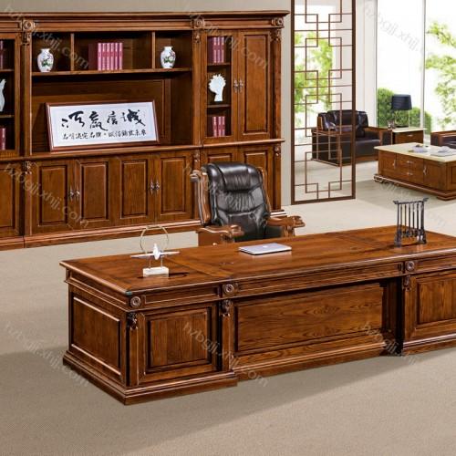 实木经理桌高档总裁办公桌生产厂家  智奥