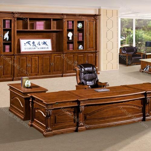 厂家直销实木油漆班台总裁办公桌  虎