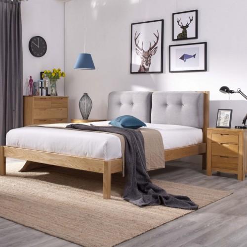 简约实木布艺靠背双人床时尚北欧实木双人床_无标题_00016
