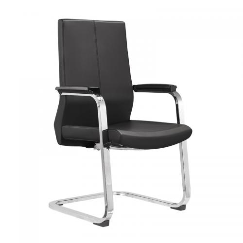 弓形办公椅价格皮质培训椅厂家C05