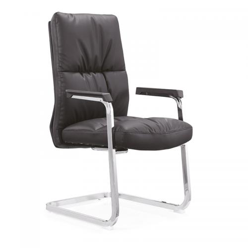皮质办公椅 弓形老板椅价格C11