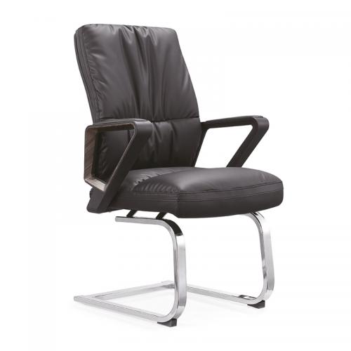 厂家供应真皮办公椅弓形电脑转C21