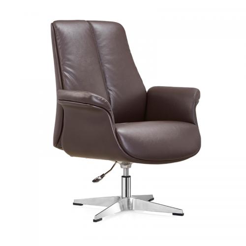 真皮老板转椅弓形办公椅定制厂家C28