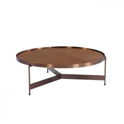 品牌北欧铜色圆茶几沙发圆角几  C9008#