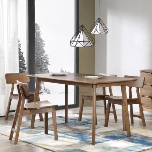 简约实木餐桌北欧风格餐桌+餐边柜_CT101