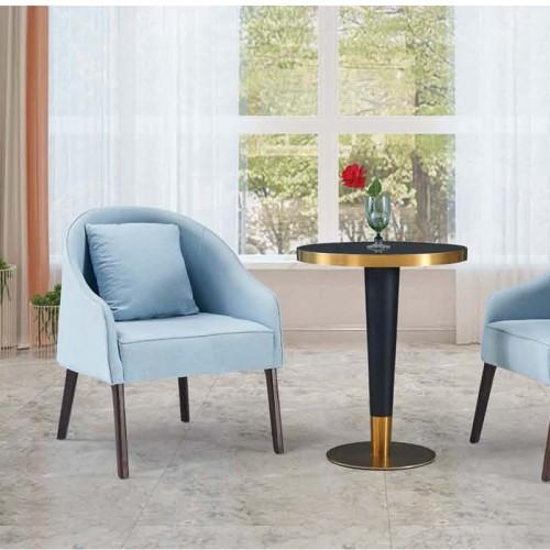新款北欧沙发椅现代简约布艺单人洽谈椅Q9047#