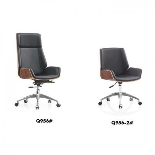 真皮办公椅 升降旋转老板椅Q956#
