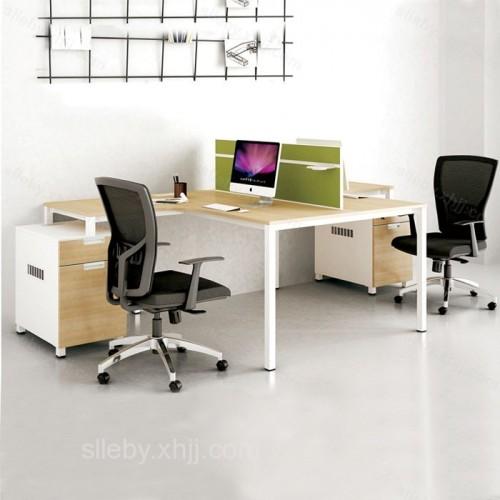 现代板式屏风工位 两人位员工办公桌 01#