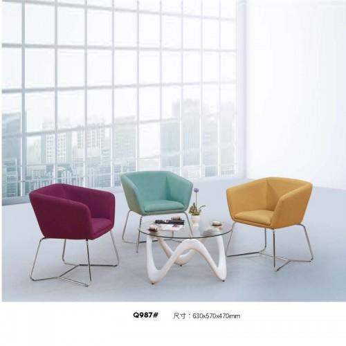 厂家直供优质休闲椅接待洽谈椅Q987#