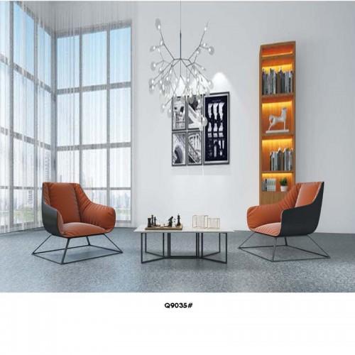 办公休闲单人沙发椅洽谈椅Q9035#