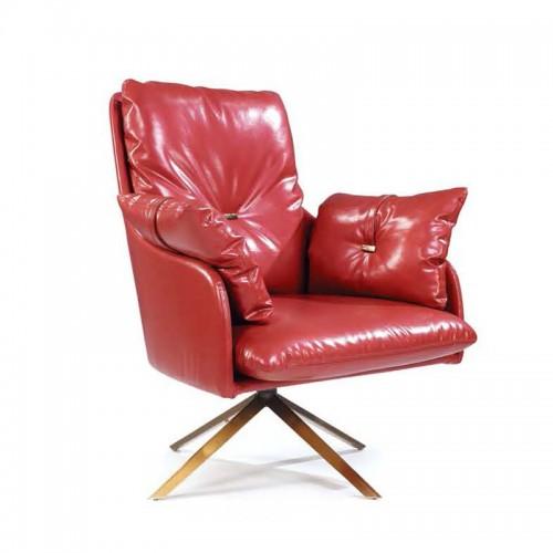 高档真皮休闲座椅时尚单人椅批发采购LD6080#