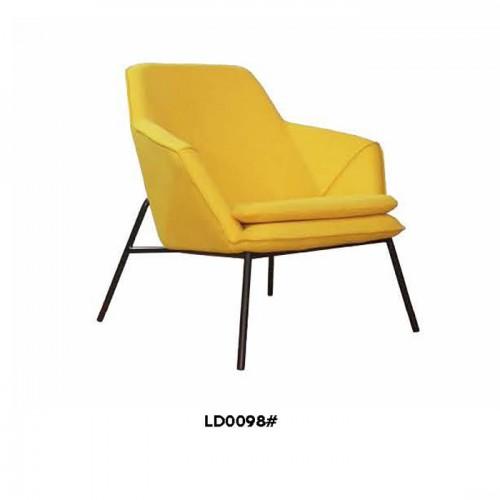 简约休闲椅单人北欧皮制沙发椅LD0098#