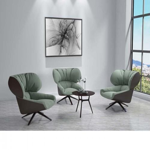 单人沙发椅北欧设计师创意高背休闲椅Q9027#
