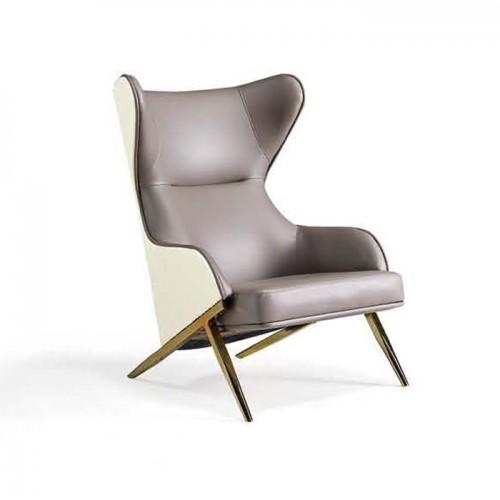北欧单人沙发椅轻奢办公洽谈休闲椅Q1013#