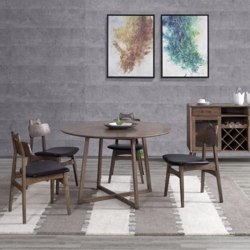 时尚简约实木餐桌餐边柜北欧风格餐桌餐边柜_00436