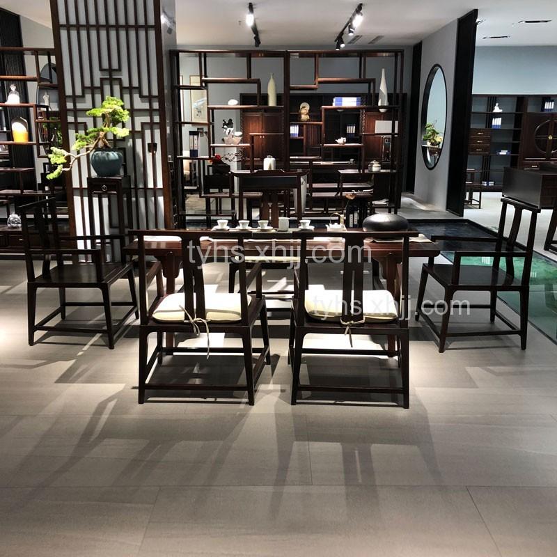 高档新中式实木茶台茶椅602