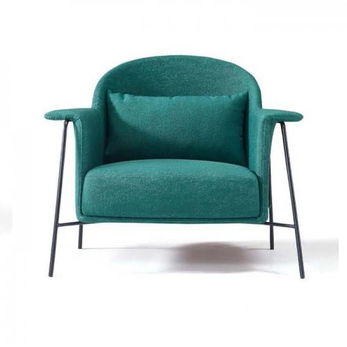 轻奢后现代布艺单人沙发休闲创意沙发椅LD9010#