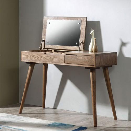 北欧实木梳妆台现代个性简约卧室梳妆台_0I7A3104