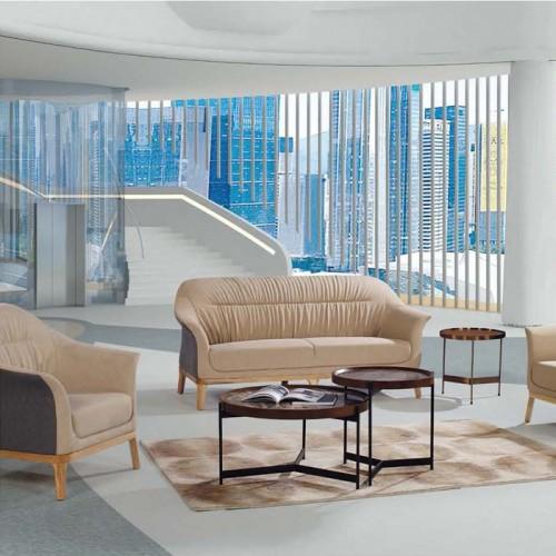 北欧真皮沙发休闲办公沙发厂家LD9006#