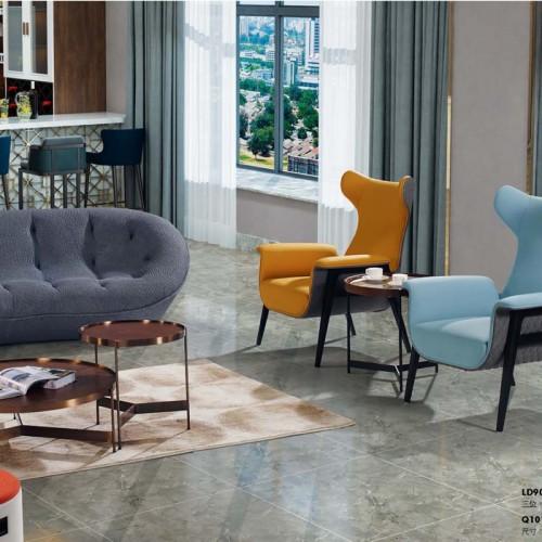 北欧休闲沙发椅轻奢现代沙发定制厂家LD9002#